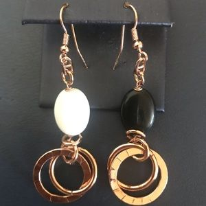 Jewelry - 14kt Rose gold Plated Mismatch Earrings Italy